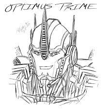 optimus prime head drawing