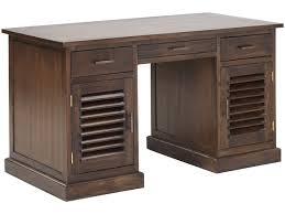 vente unique bureau bureau bali ii 2 portes 3 tiroirs teck massif prix promo bureau