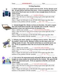algebraic equations word problems worksheet worksheets