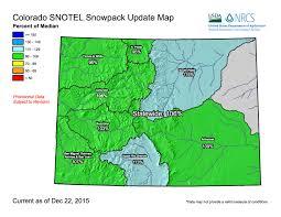 colorado snowpack map colorado starts 2016 with healthy snowpack summit county