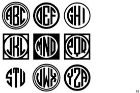 monogrammed fonts identifont circle monograms three white