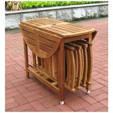 Folding Wood Dining Table Patio Ideas Folding Round Patio Dining Table Small Round Folding