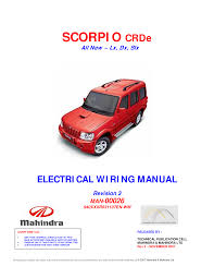 mahindra scorpio electrical wiring diagram wiring diagram and