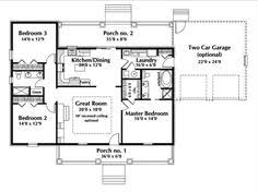 floor plan for one story house 30x50 rectangle house plans expansive one story i would add a