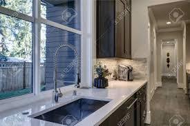 brown kitchen cabinets with backsplash contemporary kitchen design with brown kitchen cabinets paired
