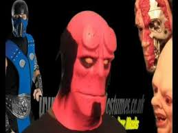 Hellboy Halloween Costume Hellboy Mask Comic Movie Masks Www Signaturecostumes Uk Wmv