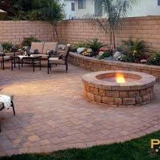 backyard pavers ste patio with grass in between las vegas