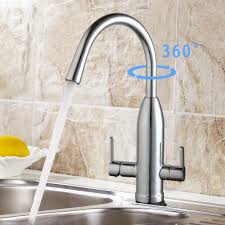 contemporary 360 degree swivel kitchen faucet polished brass