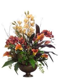 Faux Floral Centerpieces by Silk Flower Arrangements Silk Flower Arrangements Silk Flower
