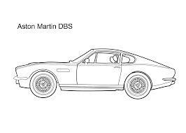 kid car drawing aston martin dbs coloring page coloring pages pinterest