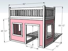Plans For Making A Loft Bed by Playhouse Loft Bed Little U0027s Room East Coast Creative Blog