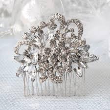 hair broach vintage diamante bridal hair comb susie warner bridal