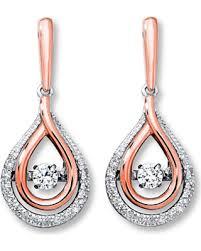 10k earrings great deals on diamonds in rhythm 1 3 ct tw earrings 10k two tone