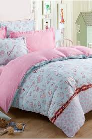 Modern Bedding Sets Modern Blue And Pink Cute Characters Twin Kids Bedding Sets