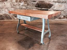 Butcher Block Kitchen Islands Industrial Butcher Block Kitchen Island Hundred Acre Design