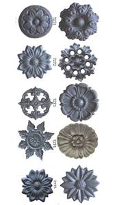 cast iron rosettes floral ornaments photo and picture on tradekey