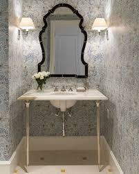Polished Nickel Vanity Mirror Washstand With Fluted Legs Transitional Bathroom J K Kling