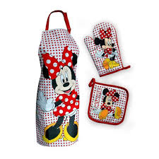 bureau d ude m anique set de cuisine tablier manique gant de cuisine minnie mouse idee