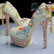 wedding shoes size 11 fashion luxurious pearls crystals wedding shoes custom made size