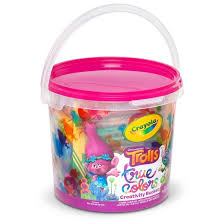 painted easter buckets crayola trolls true colors creativity target