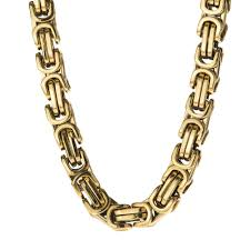byzantine necklace images 8mm large gold stainless steel byzantine chain spicyice jpg