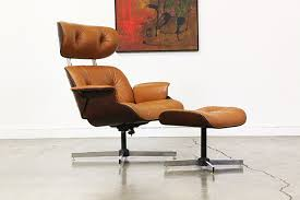 Plycraft Eames Chair Mid Century Leather Lounge Chair By Plycraft Vintage Supply Store