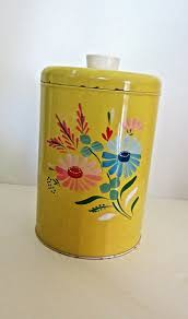 88 best ransburg canisters images on pinterest vintage kitchen ransburg flower metal canister