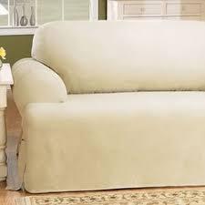 sure fit cotton duck t cushion sofa slipcover u0026 reviews wayfair