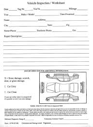 Vehicle Service Sheet Template by Vehicle Inspection Checklist Template Free Vehicle Inspection