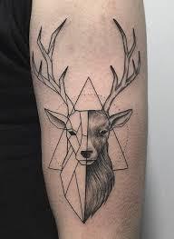 geometric deer pinteres