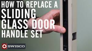 Glass Shower Door Handles Replacement by How To Replace A Sliding Glass Door Handle Set Youtube