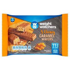 cuisine weight watchers weight watchers chewy caramel wafers 5 x 16g from ocado
