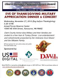 vancouver thanksgiving dinner eve military appreciation dinner hosted by