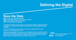 Digital Save The Date Save The Date Symposium For Defining The Digital Humber Communiqué