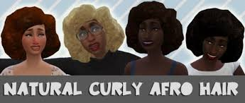 the sims 4 natural curly hair sims 4 hairs mod the sims natural curly afro hair by cattishcats
