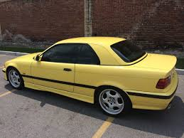1998 bmw m3 convertible with hardtop in dakar yellow german cars