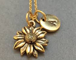 flower necklace etsy images Sunflower necklace etsy jpg