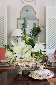 Dining Room Table Floral Centerpieces by Idea House Dining Room By Margaret Kirkland Southern Living