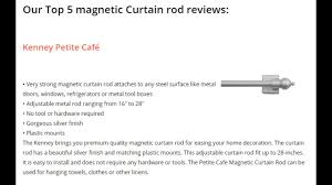 Jml Door Curtain by Best Magnetic Curtain Rod Of 2017 Youtube