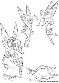 tinkerbell coloring picture everything disney pinterest
