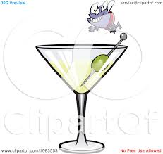 martini vector clipart fly diver over a martini royalty free vector