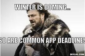 Application Meme - common app deadlines inside dores vanderbilt university