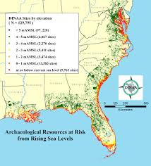 More Sea Level Rise Maps Level Rise Predicted To Threaten U003e13 000 Archaeological Sites In