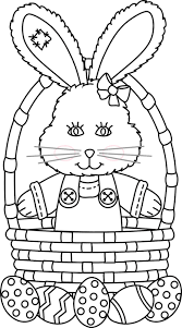 easter basket with eggs coloring page http www greatestcoloringbook com coloring page easter bunny