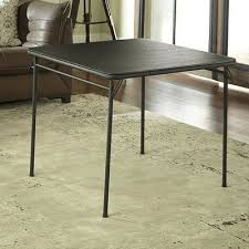 34 folding card table cosco home and office 34 square folding table finish products