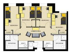 floor plans for bedrooms housing and residence life floor plans wichita state university
