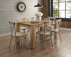 Walmart Dining Room Chairs by Better Homes And Gardens Bryant Dining Table Rustic Brown