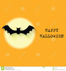halloween background moon halloween background with moon and bat stock illustration image