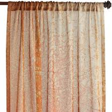 Pier One Paisley Curtains by Burnt Umber Autumn Leaves Sheer Curtain Polyester Window