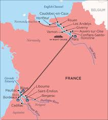Paris France On A Map by Uniworld U0027s A Portrait Of Majestic France By France Cruises